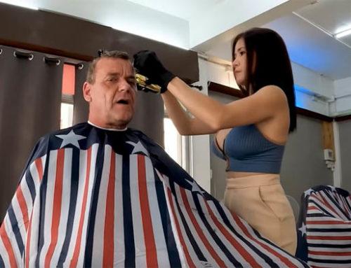 $3 Haircut with Beautiful Thai Lady (PATTAYA) – Guest Vlog NDtvi Thailand