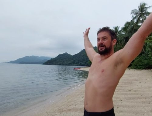 Castaway on a deserted island off Koh Chang